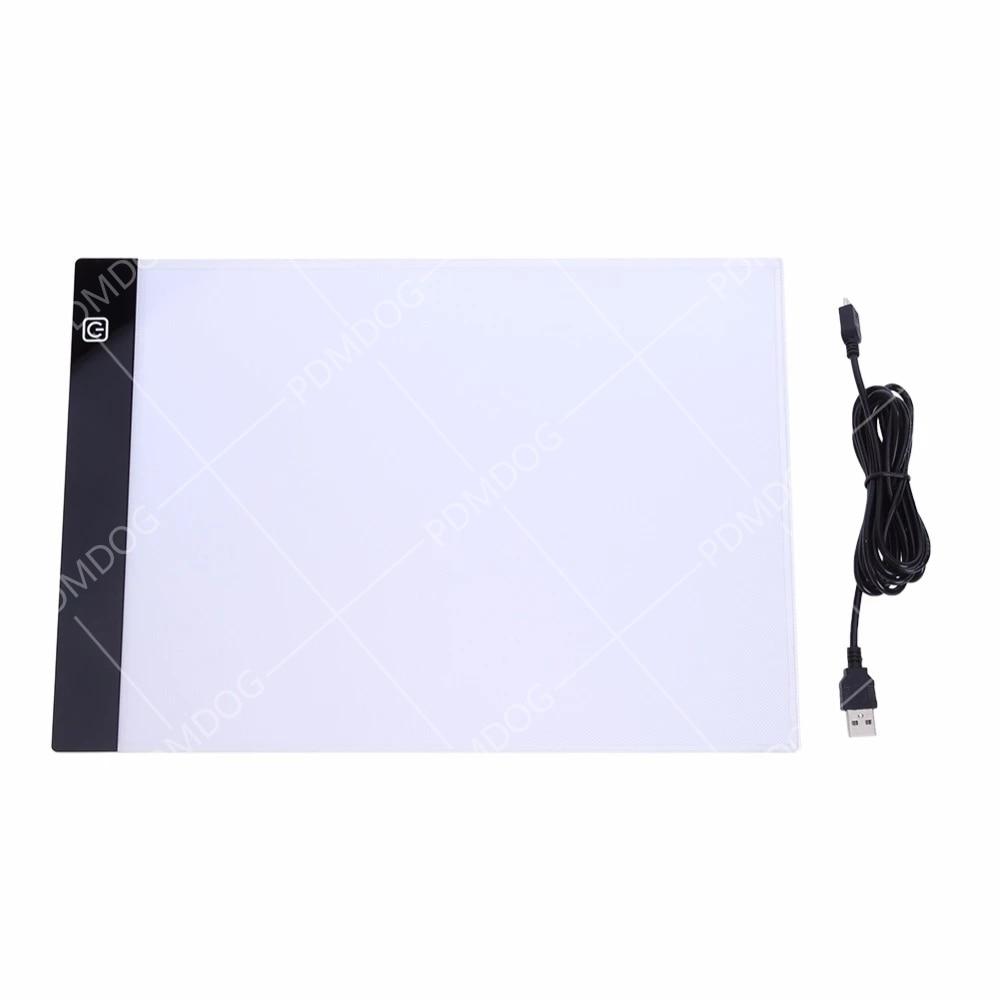 PDMDOG LED Diamond Painting Light Pad Lightpad Board Diamond Painting Accessories Tool Kits A3 A4 A5 Drawing Graphic Tablet Box
