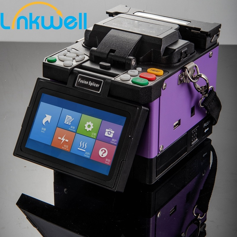 Fully Automatic Fusion Splicer Machine Core Alignment SM&MM Multi-Language FTTH Fusion Splicer with Carry Case