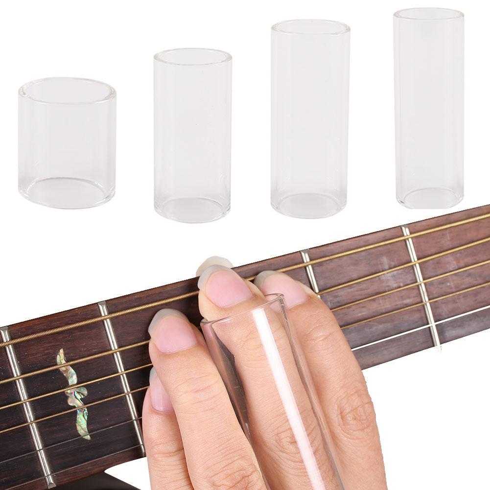 Прозрачная трубка-слайдер для гитары из оргстекла, защитный рукав для пальцев, аксессуары, удобная гитарная трубка-слайдер, части для гитар...