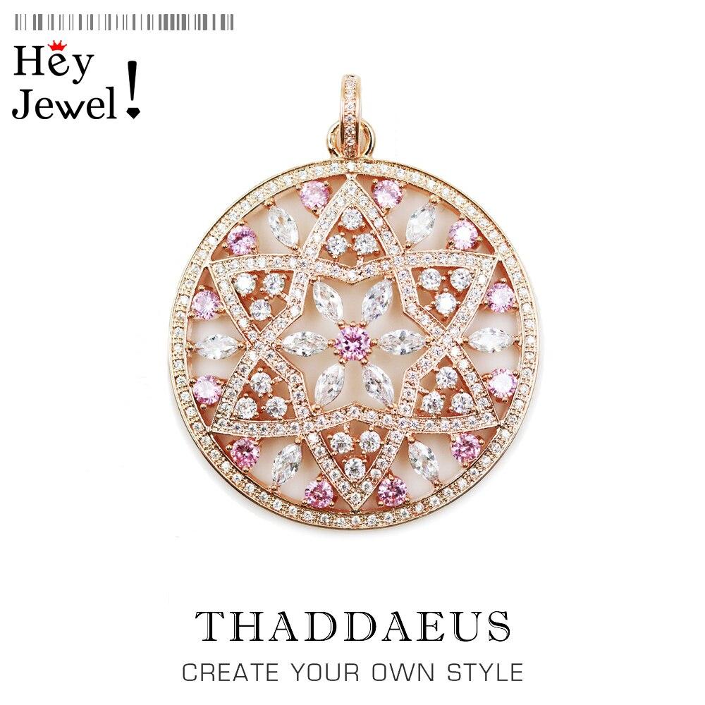 Colgante de adorno de flores, joyería de amor de moda 2020, collar de bisutería Thomas, Color oro rosa, regalo de plata esterlina 925 para mujer Ts