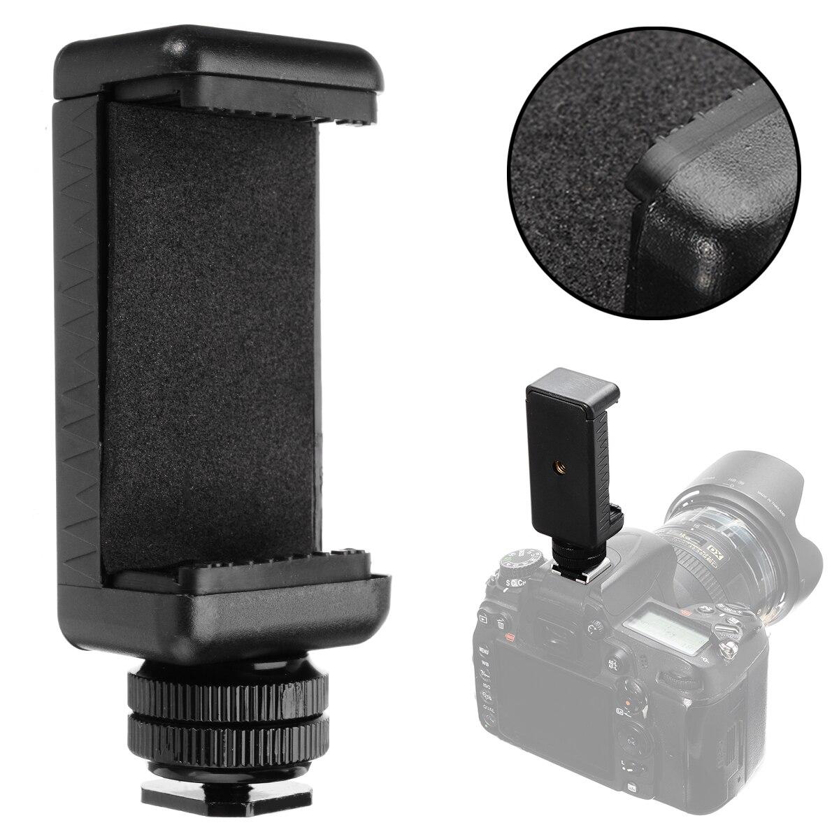 Onsale alta qualidade 1/4 Polegada telefone clipe titular + sapato quente adaptador de montagem preto para câmera mayitr