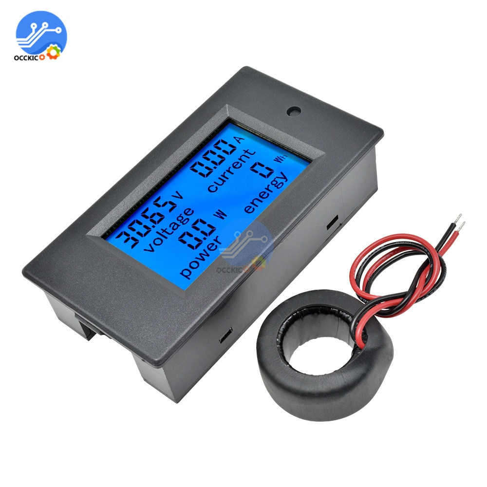 1 juego 4 en 1 medidor de corriente de voltaje medidor de energía AC 80-260 V/100A amperímetro voltímetro Digital con transformador de corriente