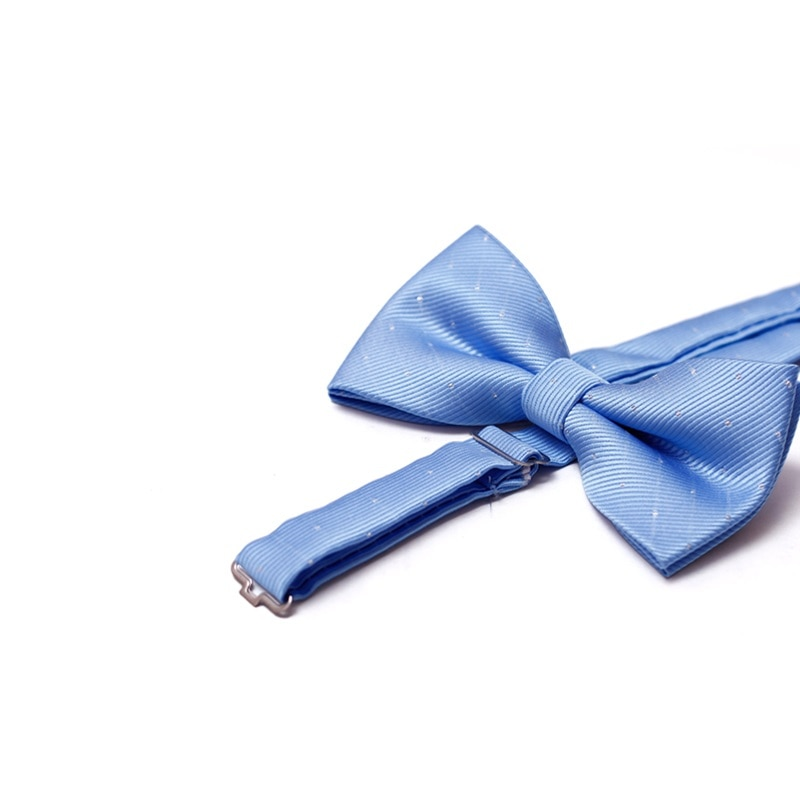 High Quality 2020 Bowtie For Men Women Banquet Wedding Party Groom Bow Tie Butterfly Knot Mens Bowties Light Blue Gift Box