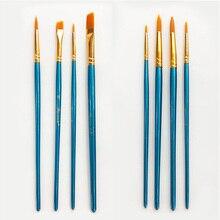 Manche en bois Tube en aluminium 4 pièces   Pinceau de peinture dartiste, stylo à dessin Portable, brosses de peinture à lhuile, dessin fournitures dart, cheveux Nylon