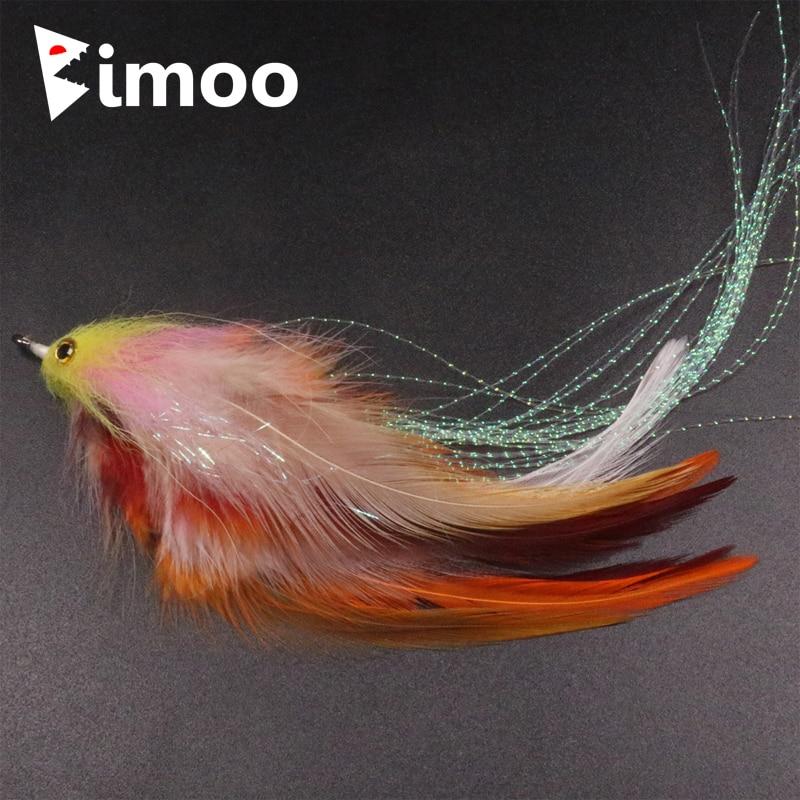 Nowy pstrąg Steelhead łosoś szczupak Streamer Fly dla Fly przynęty wędkarskie rozmiar 1/0