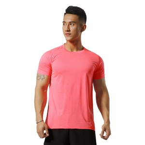 2020 Summer Men Running T-Shirt Breathable Polyester Sports T-shirts Gym Fitness Short Sleeve Tees O-neck Training Tops XXL Size