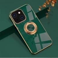 anti fall plating phnom penh silicagel ring bracket phone case for iphone xs 11 12 13 mini pro max se 2020 7 8 plus xr x cover