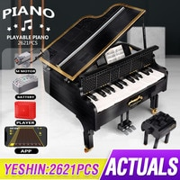 APP Programming Remote Control The High-Tech 21323 Playble Grand Piano Set Building Blocks Bricks Kids Christmas Gifts Toys