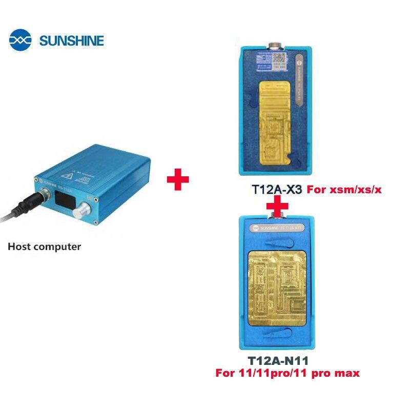 SS-T12A التدفئة محطة فصل أداة ل فون 11 برو X/XS/XS ماكس اللوحة وحدة المعالجة المركزية Desoldering محطة الهاتف إصلاح أدوات عدة