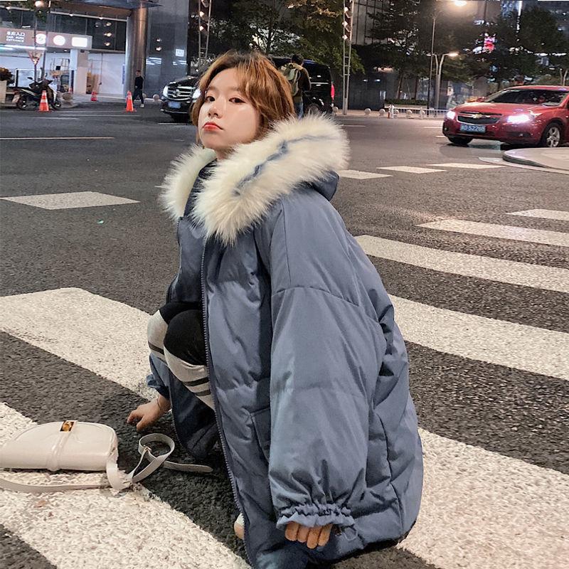 Женская хлопковая куртка с капюшоном, куртка в стиле Харадзюку, 2021
