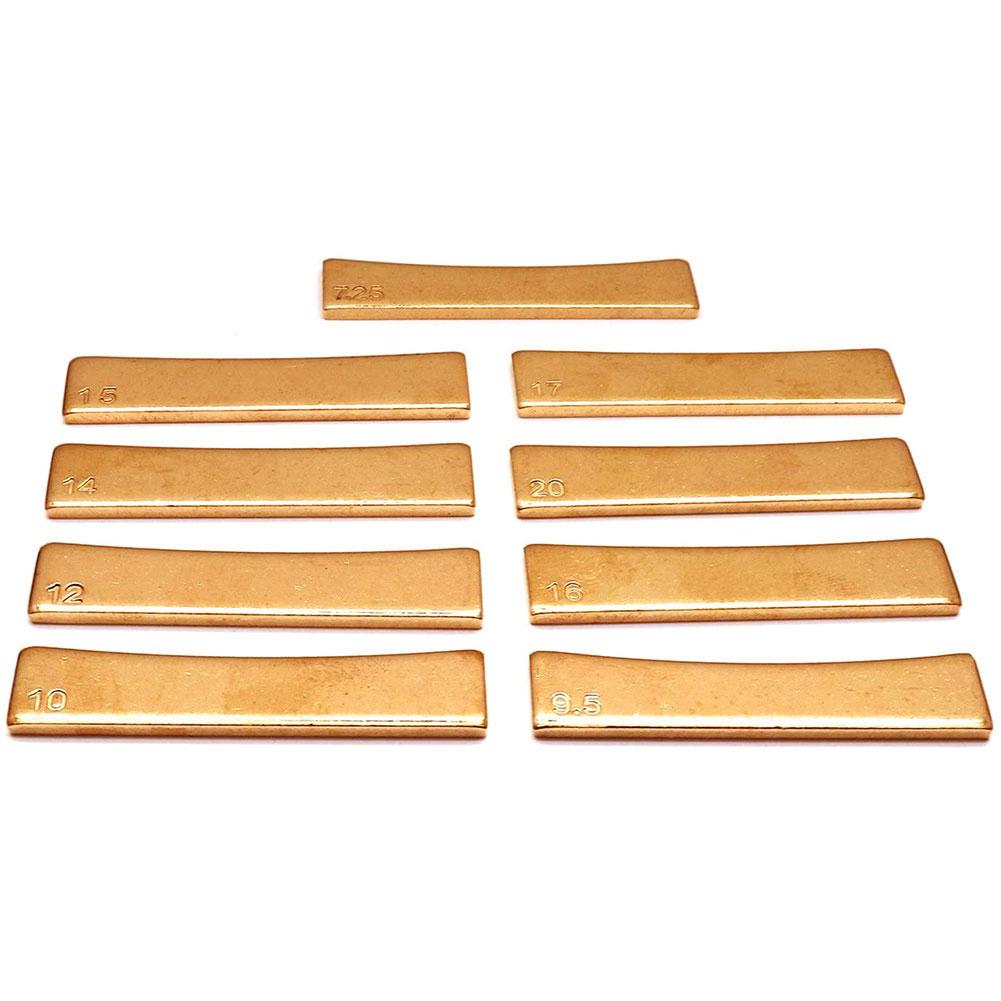 9PCS Golden Guitar Radius Fingerboard Fret Press Caul Inserts Electric Guitar Repair Luthier Tools Instrument Accessory