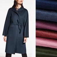 6colors 147cm wide 500gm weight solid color water wave wool acrylic autumn and winter overcoat outwear fabric de1353