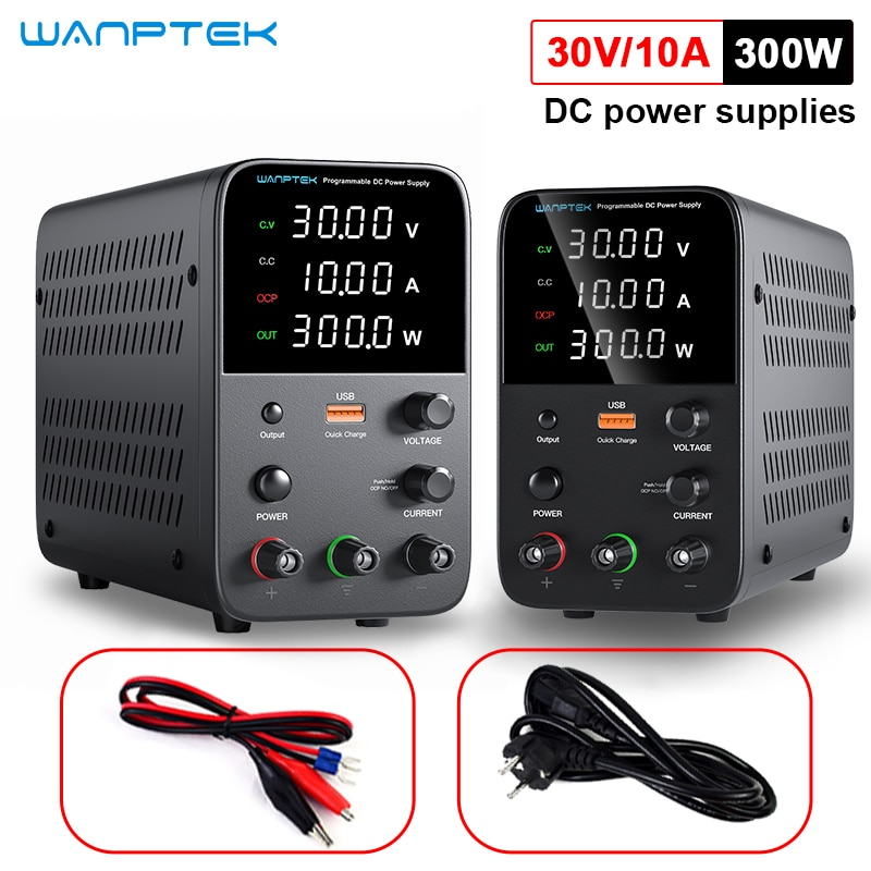 Wanptek adjustable DC power supply 30V10A programmable memory function memory encoder 60V5A switch type regulated power supply
