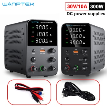 Wanptek adjustable DC power supply 30V 10A programmable memory function memory encoder 60V 5A switch type regulated power supply