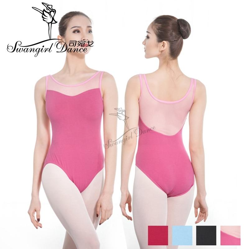 Ciemnoróżowy bez rękawów gymanstics balet trykot dla kobiet dziewczyn balet kostiumy dla dziewczynek baleriny dancewearCS0711