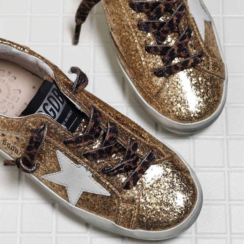2021 Spring  New Products Gold Sequins Children's Old Retro Dirty Shoes for Boys and Girls Casual Non-slip Kids Shoes CS192 enlarge
