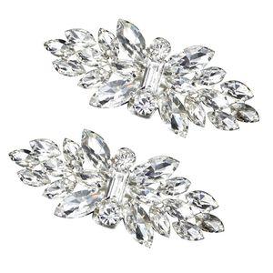 2pcs Shoe Clip Wedding Shoes High Heel Women Bride Decoration Rhinestone Shiny Decorative Clips Charm Buckle