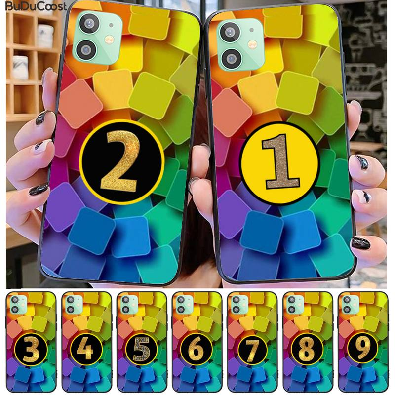 Funda de teléfono exclusiva personalizable de Lucky Numbers para Iphone 11 Pro11 Pro Max X XS XR XS MAX 8plus 7 6splus 5s Se 7plus