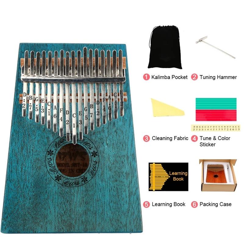 Kalimba 17 Key Portable Thumb Finger Piano Mahogany Musical Instruments Calimba Mbira for Child Adult Beginner Kalimba