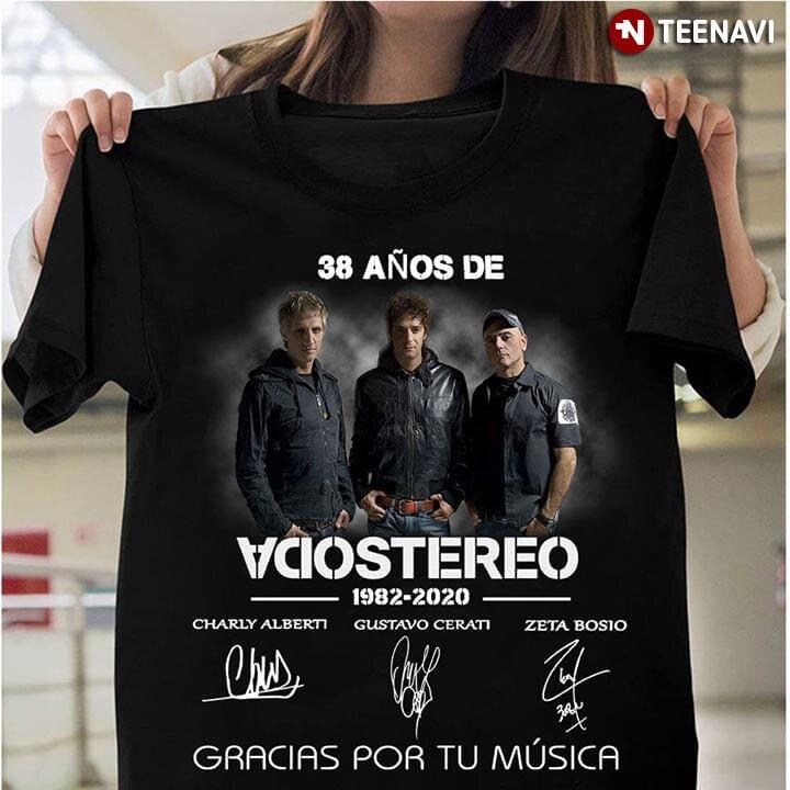 38 Anos De Soda Stereo 1982-2020 Gracias Por Tu Música camiseta