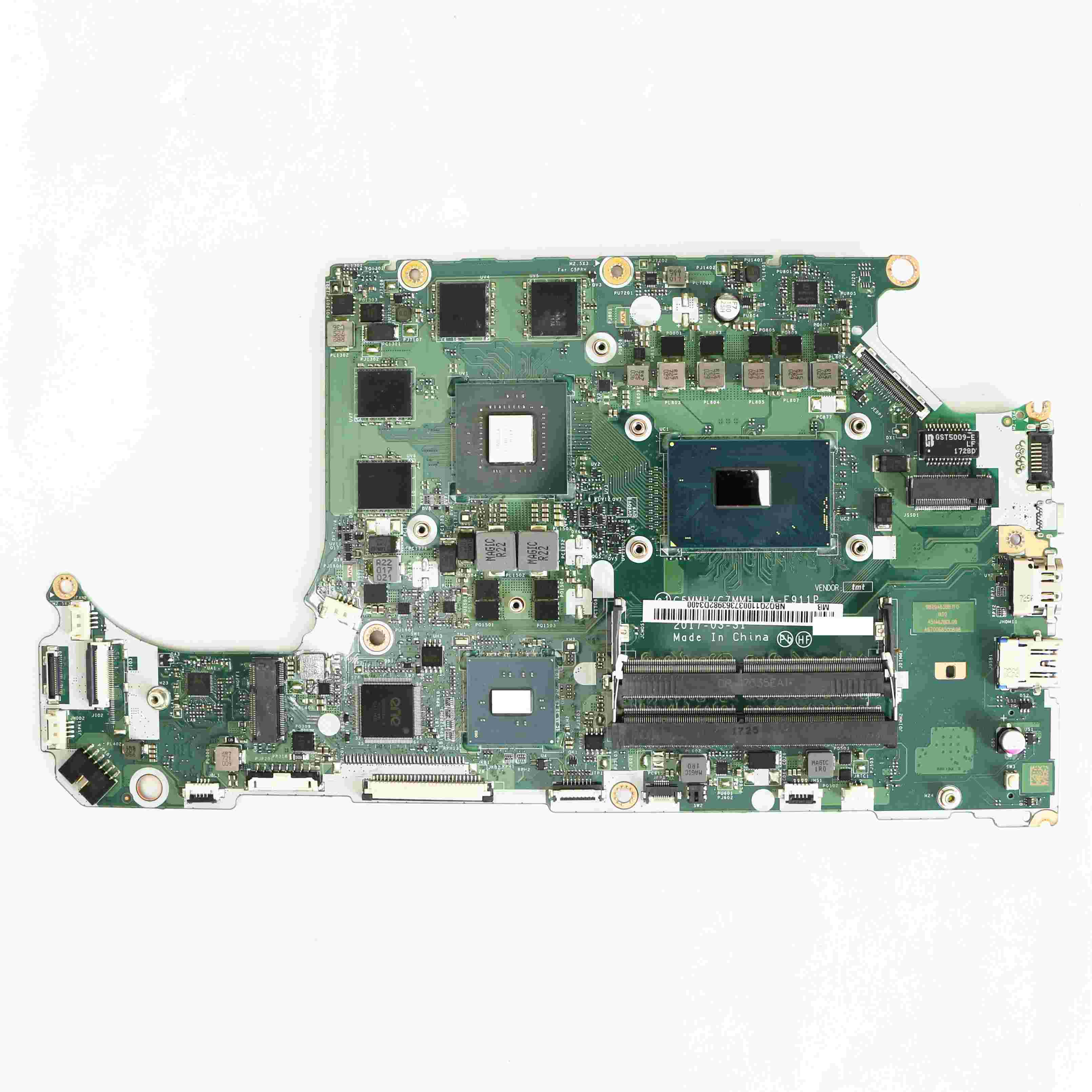 NB.Q2Q11.003 NBQ2Q11003 Laptop DDR4 Motherboard C5MMH / C7MMH LA-E911P w/ i5-7300HQ & GTX1050 V4G for Acer A715-71G Laptops