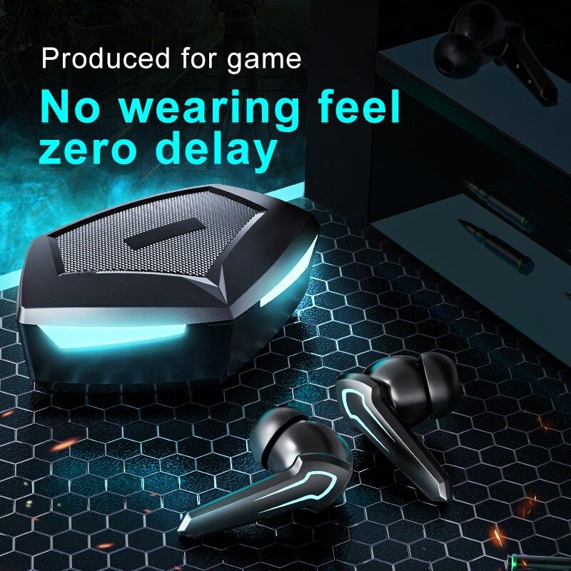 سماعات رأس للألعاب ذات الأنماط الجديدة بدون تأخير حثي TWS سماعات بلوتوث 5.0 بتقنية تبريد داخل الأذن سماعات لاسلكية