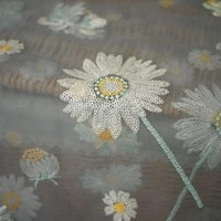 sequined small daisy mesh lace fabric ins fabric for sewing dresses needlework cloth tablecloth