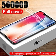 50000D Full Cover Screen Protector For iphone 11 Pro XS Max X XR Hydrogel Film iphone 12 Pro Max Min