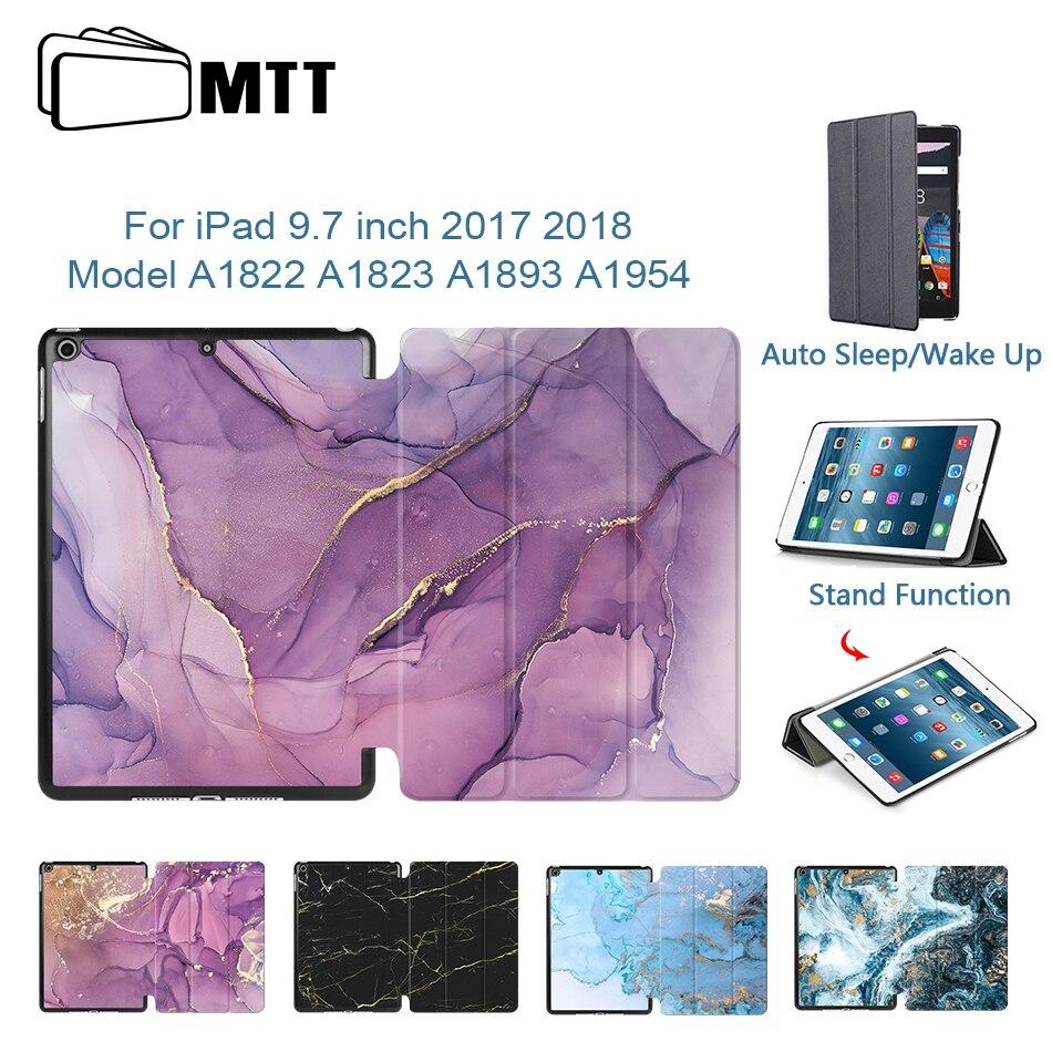 Чехол для планшета MTT marble, тонкий умный чехол-книжка из искусственной кожи с подставкой для iPad 9,7 дюйма 2017 2018, модель A1822, A1823, A1893, A1954