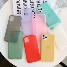 Funda trasera de teléfono de TPU líquido carcasa para iphone 6 7 8 6s Plus Color puro caramelo silicona suave para iPhone X Xs 11 Pro Max Xr