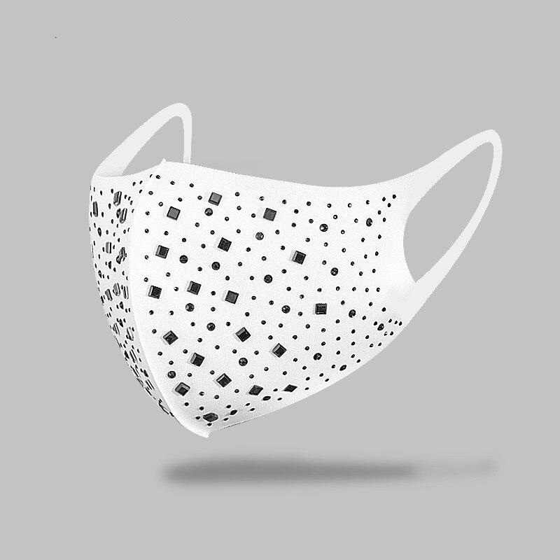 Máscara de diamantes de imitación de corazón brillante para mujeres Color dorado plateado cristal elástico decoración para el rostro máscara Punk joyería para velo regalo para fiesta