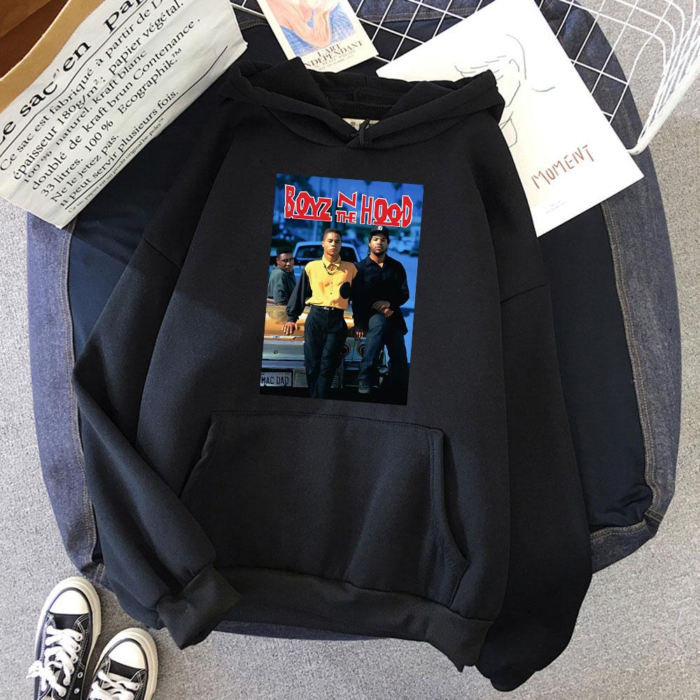Hip Hop Hoodie Doughboy Boyz N The Hood Pullover Ice Cube 90's Movies Womens Streetwear Fashion Harajuku Long Sleeved Clothes