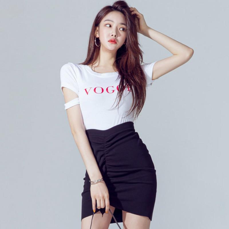 Verão carta imprimir manga curta breve branco casual topo camisetas femininas