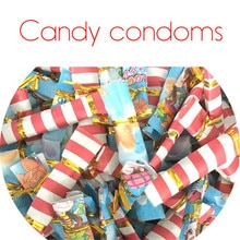 100pcs Creative candy condom natural latex rubber condoms adult goods men's condom lubricated condoms sex tools for men