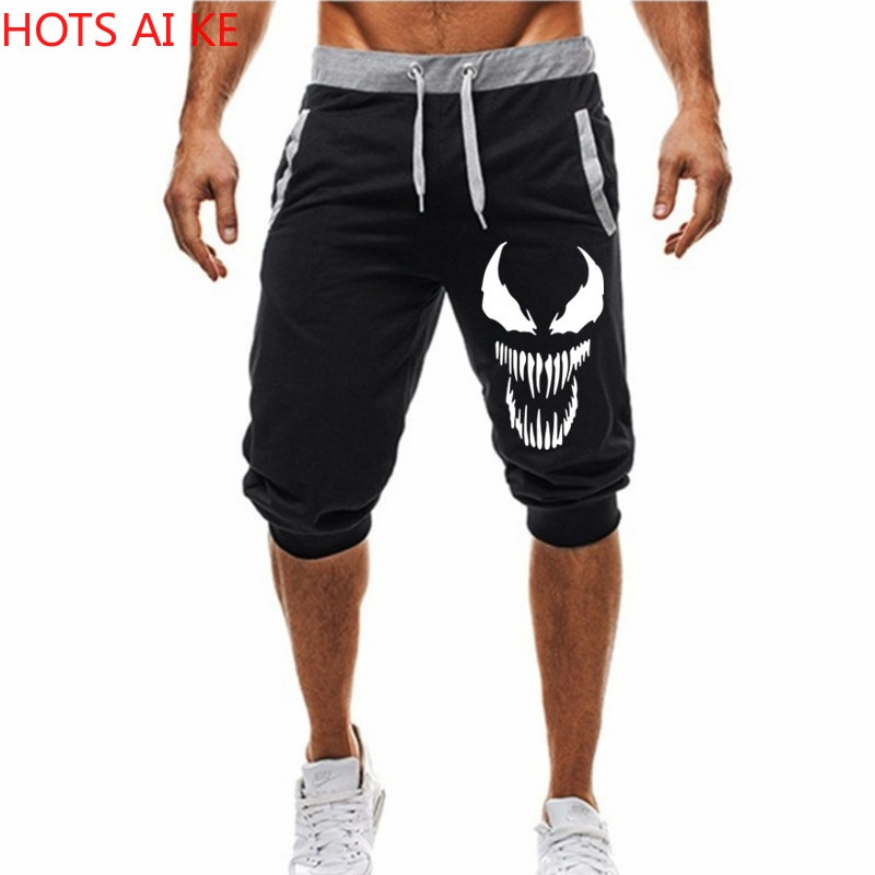 Mans Shorts Hot 2021 New Hot-Selling Summer Casual Fashion venom print Sweatpants Fitness Short Jogger M-3XL