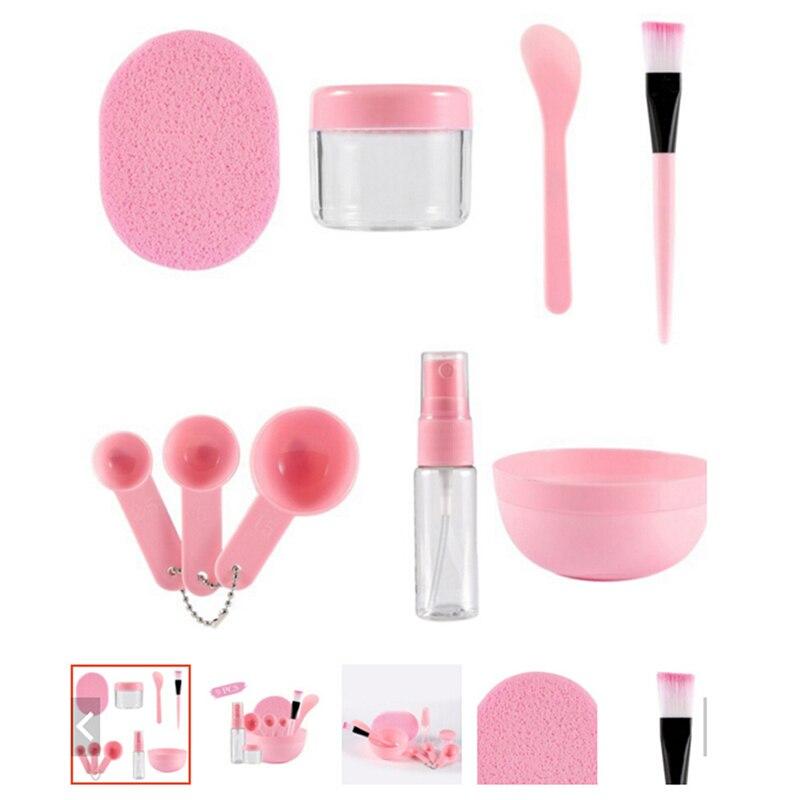 9Pcs/Set Facial Mask Tools Kit Bowl Brush Spoon Stick Bottle Sponge Homemade DIY Makeup Beauty Tool