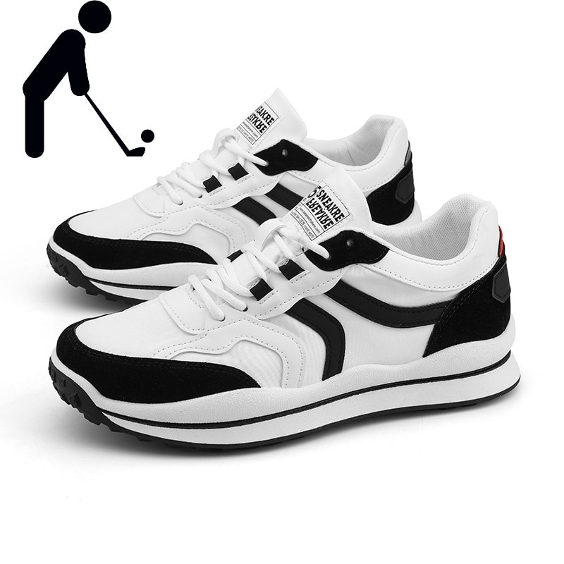 Brand Golf Shoes Men Training Shoes Men Fashion Lace-up Walking Shoes Men Black Gray White Outdoor Non-slip Golf Sneakers Men new professional golf shoes men white black waterproof golf sneakers outdoor light weight footwear for men walking shoes