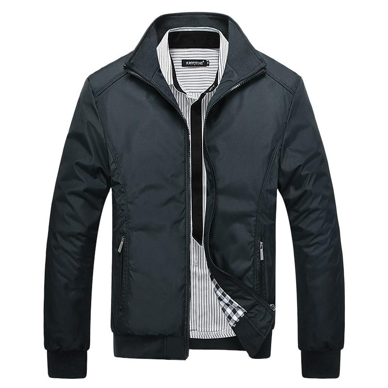 Jaqueta bomber casual masculina, gola com zíper, corta-vento, slim fit, dentro de veste, plus size 5xl casacos 2020,