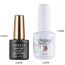 Anlylan Gel Polnischen Hybrid Lacke Nagel Maniküre UV LED Gel Semi Permanent Nägel Soak Off Gel Lack Basis Top Mantel 15ml Farbe