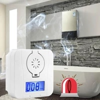 carbon monoxide alarm co gas detector battery operated digital led display sensor
