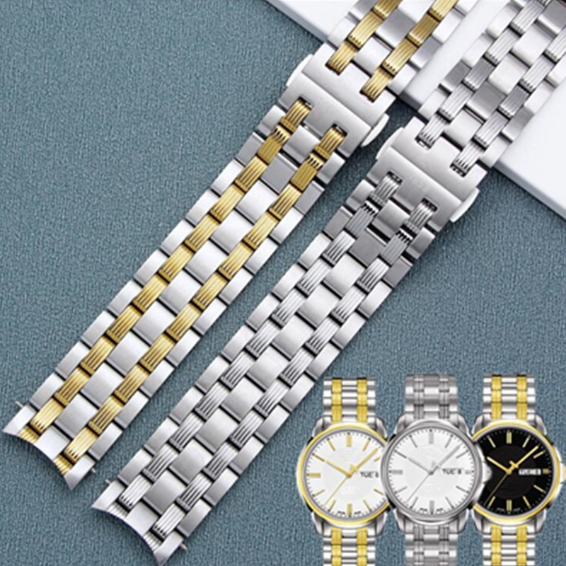 Accesorios para reloj, correa para reloj Tissot 1853 Hengyi Starfish T065 430a, cadena para reloj, correa de reloj de acero inoxidable de 19mm