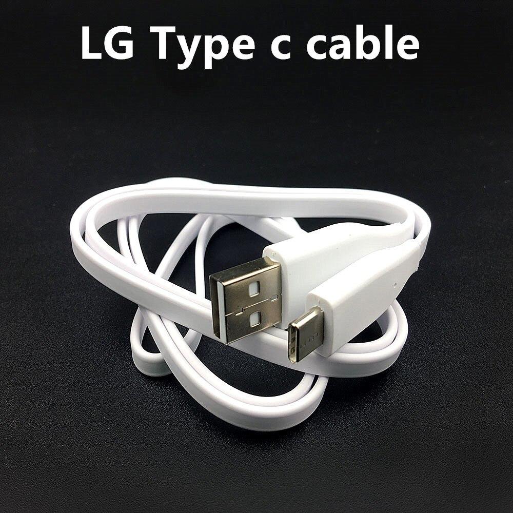 Para cargador LG Cable USB Original tipo A tipo C Cable rápido para LG G7 thinq g5 q6 v10 v20 v30 v35 teléfono 100cm línea de fideos
