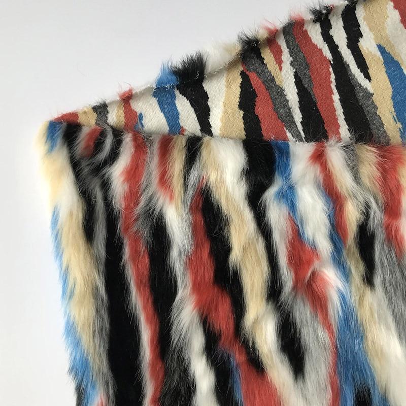 160*100cm jacquard abrigo forro felpa Peluche de imitación tela de piel para casa almohada funda chaleco Cuello de piel larga de felpa tissu telas