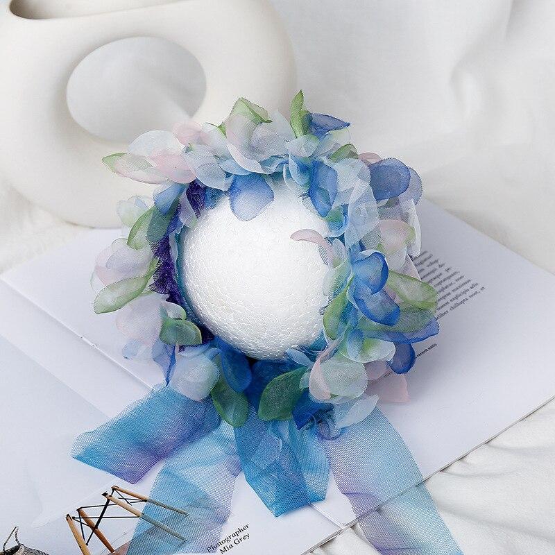Accesorios de fotografía recién nacido falda infantil disfraz Floral diadema + falda princesa tutú bebé accesorios de foto