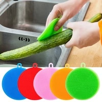 silicone dishwashing brush scouring pad rag absorbent non linting degreasing dish cloth household lazy dish towel