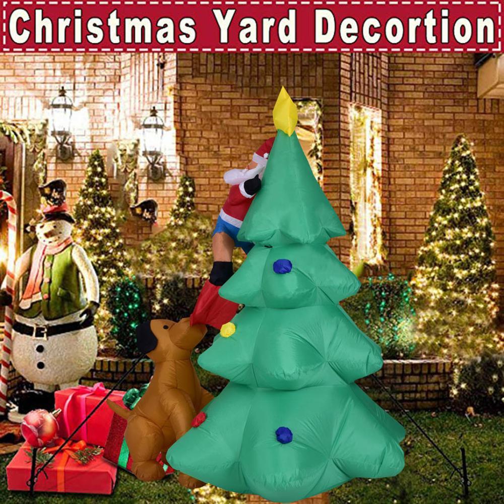 Adornos navideños para el hogar árbol De Navidad jardín inflable interior decoración para fiestas al aire libre 6FT enfeitas De Natal Dropshipping #