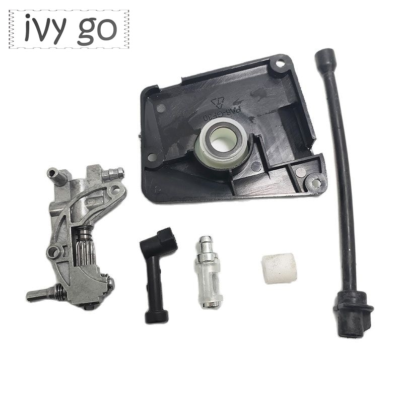 12v 24v 220v gearbox oil changer pump oil gear oil pump Worm Gear Oil Drive Pump Kit Fit For Chinese Chainsaw 4500 5800 45CC 52CC 58CC Pump Cover Oil Pump Cover Oil Filter Oil Pipe