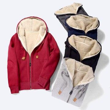 2020 WOMEN  NEW Winter lamb cashmere plus velvet sweater female long sleeve thick warm shirt casual zipper Korean cardigan coat