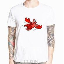 Camiseta blanca de La Sirenita Sebastian-disponible xs-5xl pantalón corto Casual manga Tee estilo de moda hombres Tee camisetas para hombres