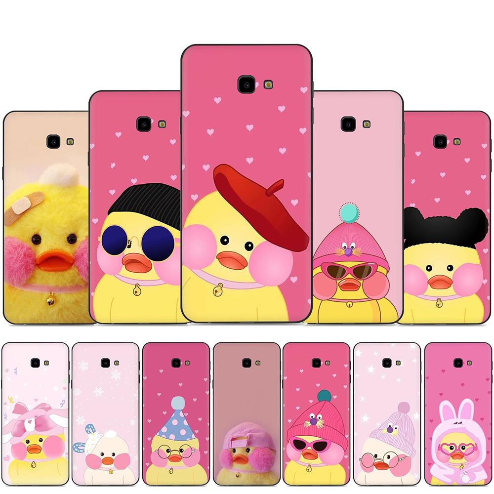 Korean Cute Cartoon Cafe Mimi Yellow Duck Silicone Phone Case for Samsung A2 Core A20E A70s J4 J6 Plus Prime J7 DUO J8